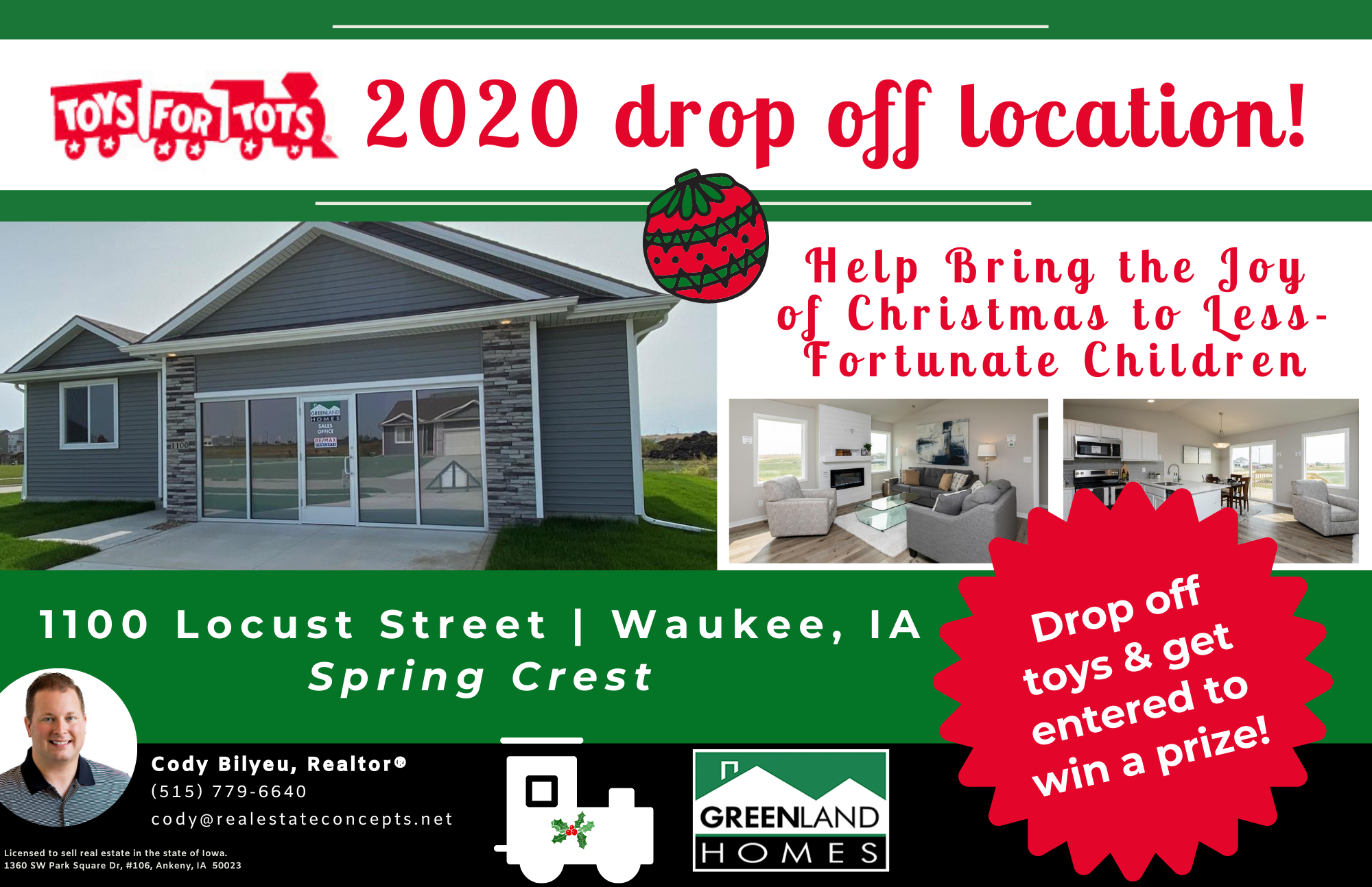 Waukee Sales Office is a Toys for Tots Donation Location